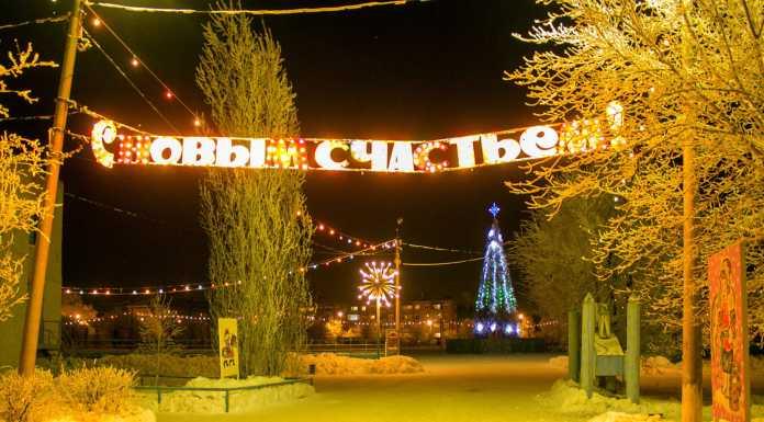Оренбург Новый год Елка Зима Стадион Прогресс