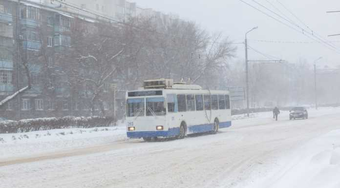 Зима Погода Троллейбус Холода