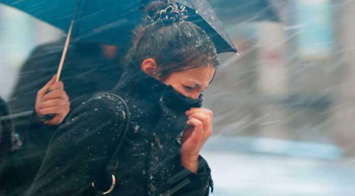 Погода Непогода Метель Слякоть Девушка Зима