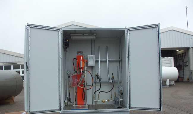 Универсальная установка для заправки бытовых газовых баллонов населением