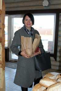 Анна Евдокимова в пекарне
