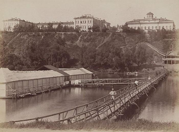 Оренбург. Вид от Зауральной рощи. 1890-е