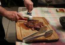 Еда Мясо ресторан
