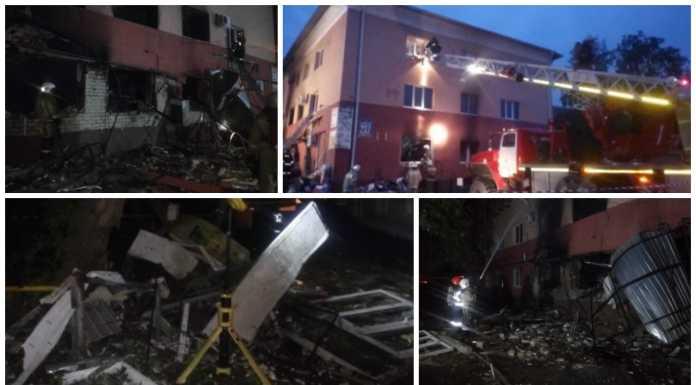 В Оренбурге обрушилось здание администрации из-за взрыва газового баллона