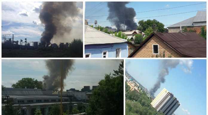 Склад комбикормового завода горит в Оренбурге