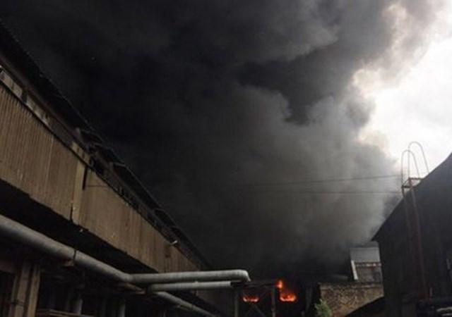 Пожар на Кировском заводе 12 июля 2017: Подробности (видео)