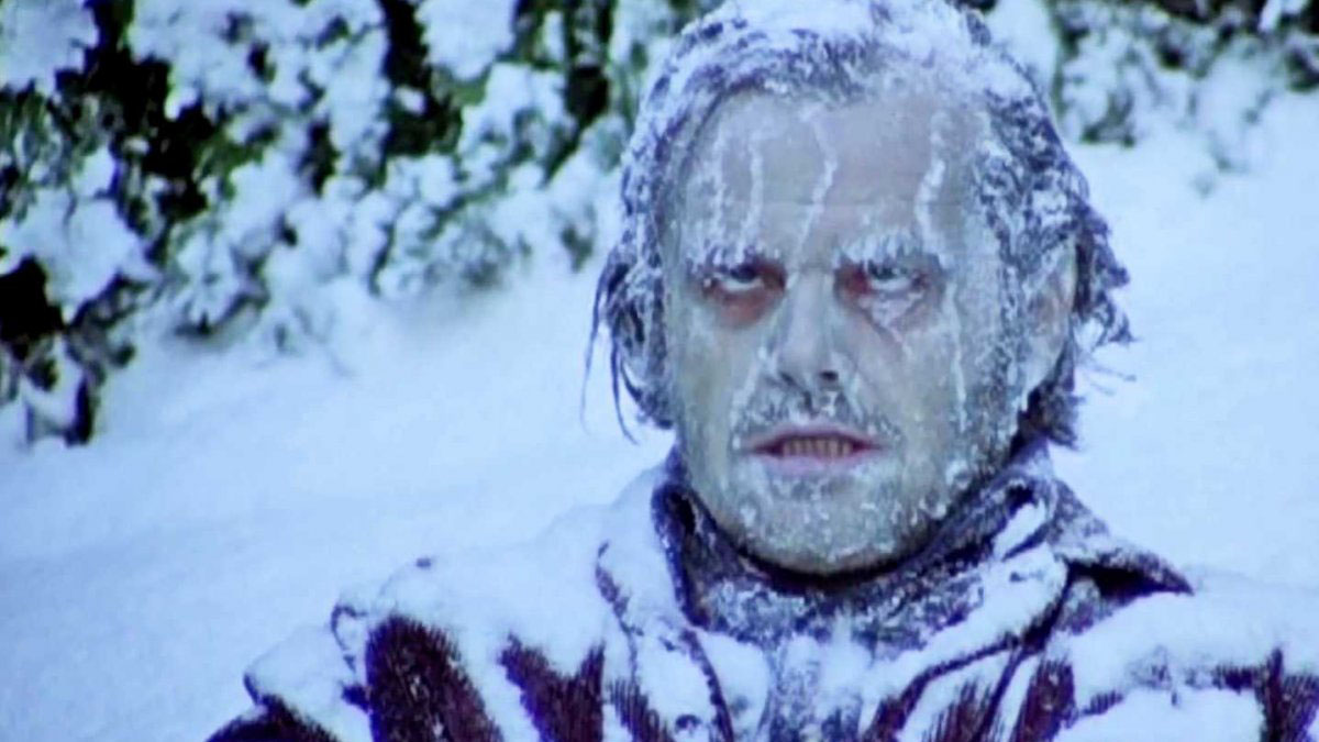 Мужик замерз холод