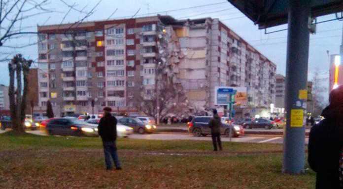 Обрушение дома в Ижевске
