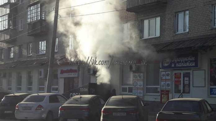 В центре Оренбурга загорелась кальянная
