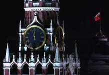 Новый год, куранты, кремль