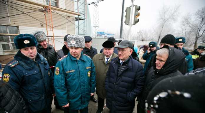 Юрий Берг поручил составить списки предпринимателей, понесших ущерб от пожара в ТЦ «Мир»