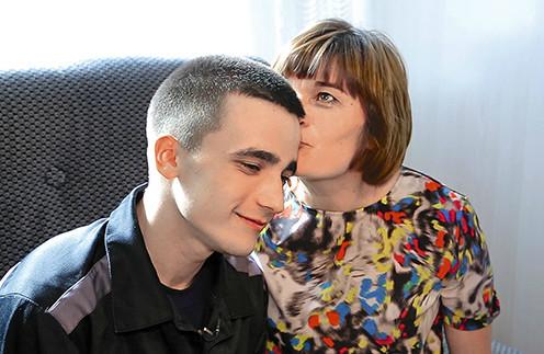 Сергей Семенов с мамой