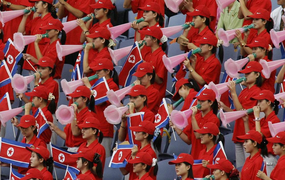 Северокорейские болельщицы