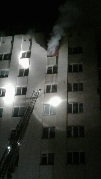 Фото пожара на Дзержинского 14 февраля