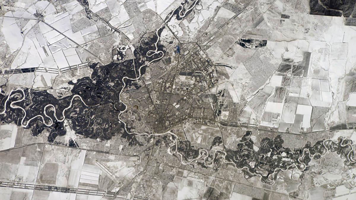 Вновь Оренбург сфотографировали из космоса