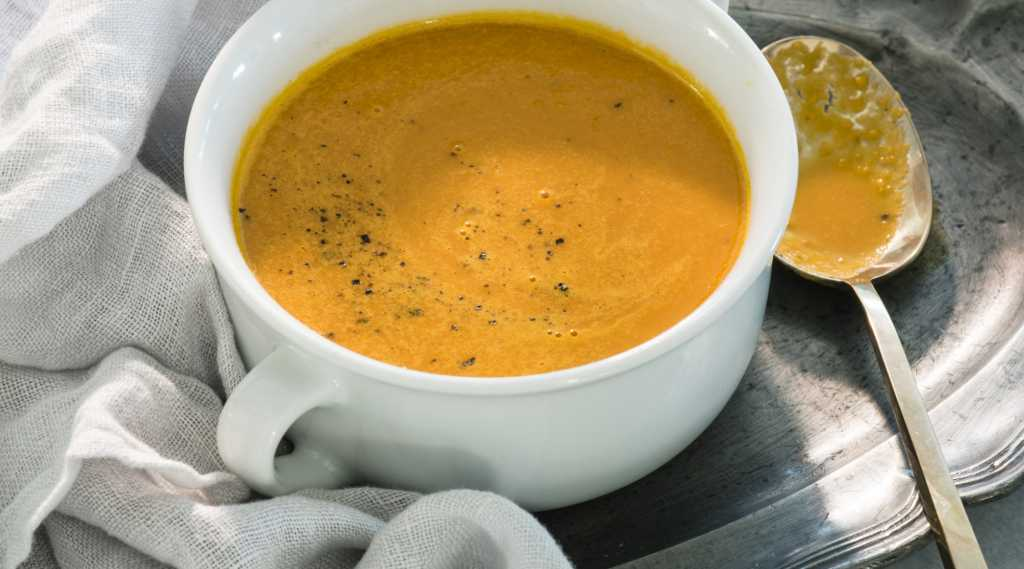 Морковный суп с имбирем.