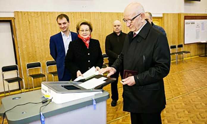 Юрий Берг проголосовал на выборах президента