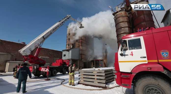 Пожар на заводе ЖБИ