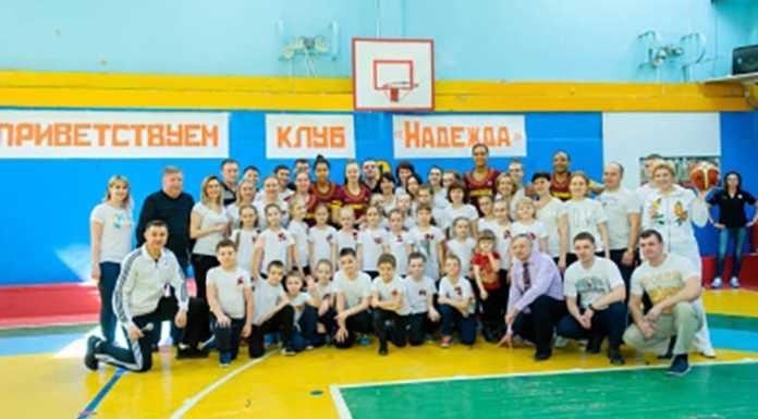 Звезды баскетбола провели зарядку с оренбургскими школьниками