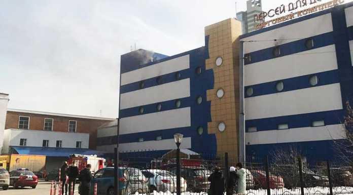 Торговый центр «Персей для детей» горит в Москве