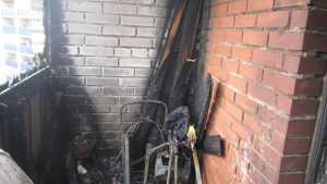 В Орске на пожаре в многоэтажном доме спасены двое детей
