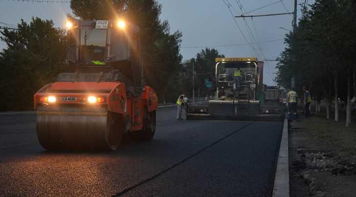 Дорожные работы на проспекте Гагарина ведутся в ночное время