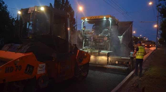 Дорожные работы на проспекте Гагарина