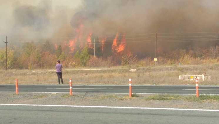 Пожар в поселке им. 9 Января