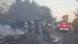 Крупный пожар под Оренбургом