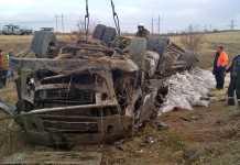 Перевернувшийся грузовик насмерть придавил водителя на трассе Оренбург - Орск