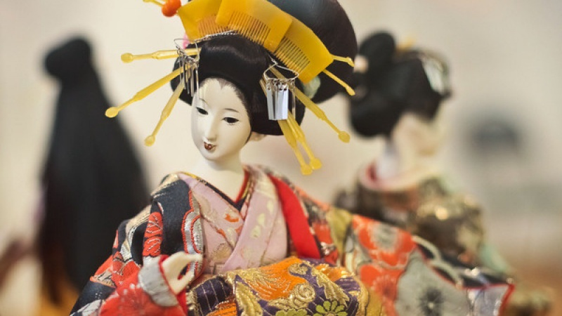 выставка японских кукол