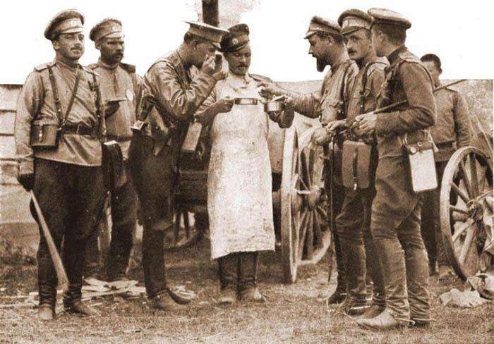 Военно-полевая кухня времен Первой мировой войны.