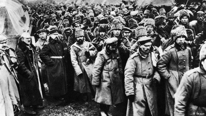 Военнопленные офицеры и солдаты армии Российской империи.