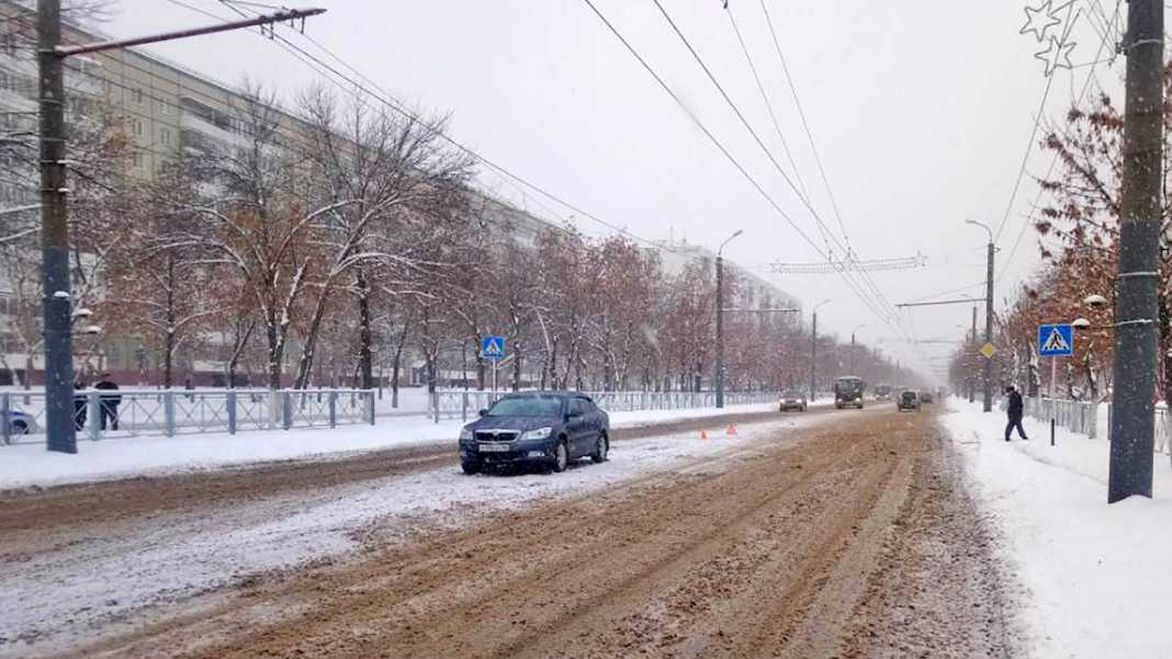 В Оренбурге иномарка сбила пешехода на