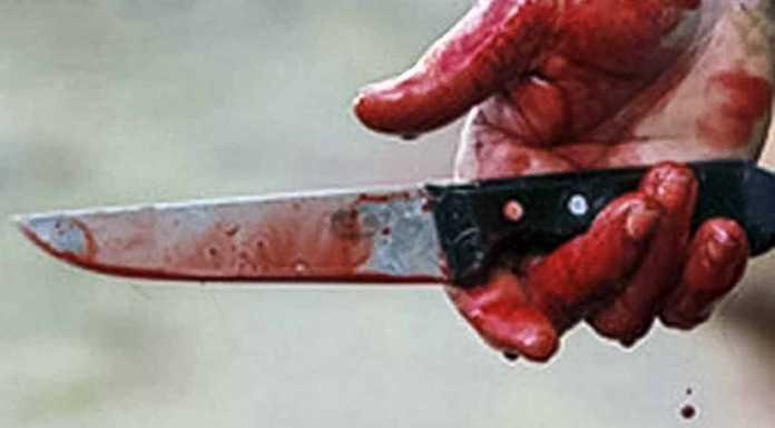 Убийство. Нож в руке